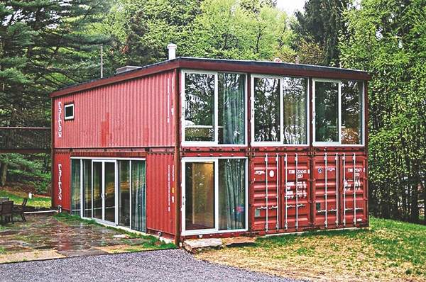 10 shipping container buildings for homes and outbuildings. Black Bedroom Furniture Sets. Home Design Ideas