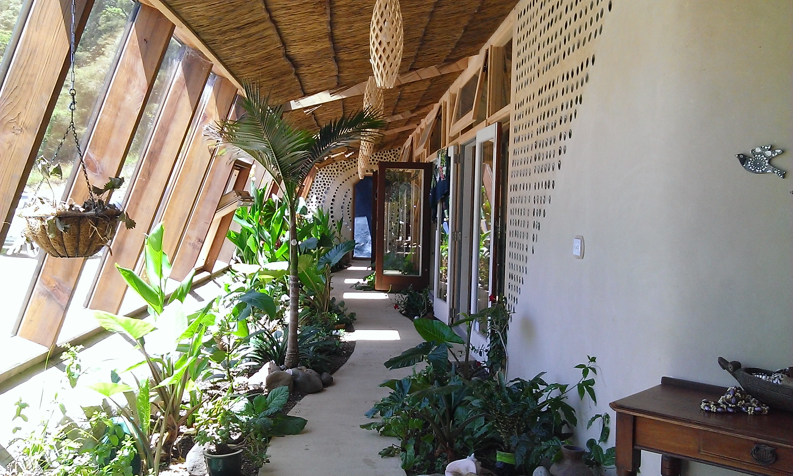 Gus and Sarah's earthship